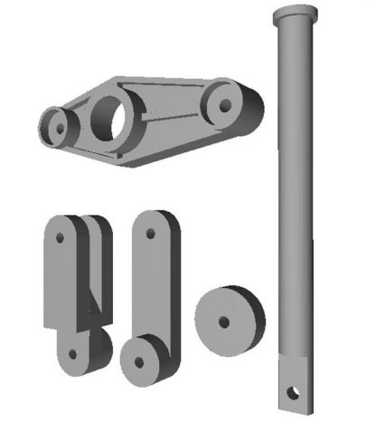 Комплект деталей отводки привода ДК AMD01L KONE, WITTUR