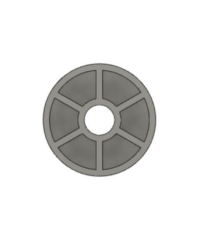 Деталь (шайба) стеллажа Ikea 28x10 мм D=7.5 мм